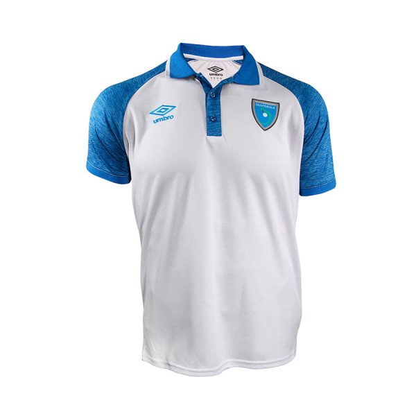 Guatemala Camisa Polo Blanco/Azul 21-22
