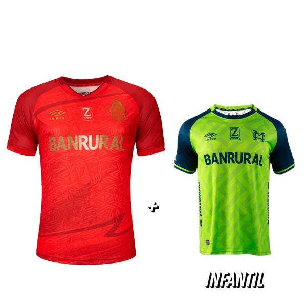 Camisola Roja 21-22 + Camisola Verde de Niño